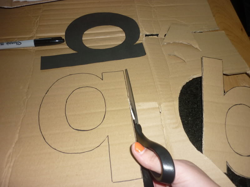 cardboard letters diy my type of decor diy 3d letters graphique fantastique 17850