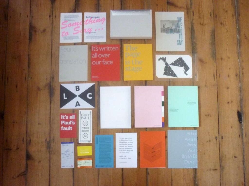 Letterpress: Something to say – Goody bag