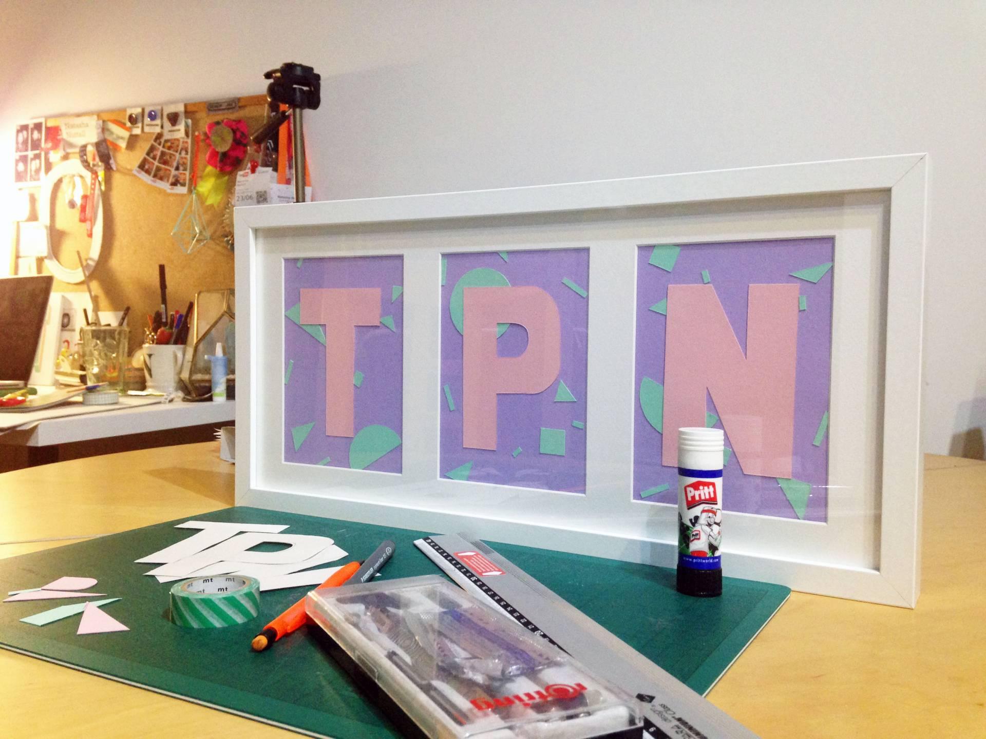 DIY Monogram Letter Frame