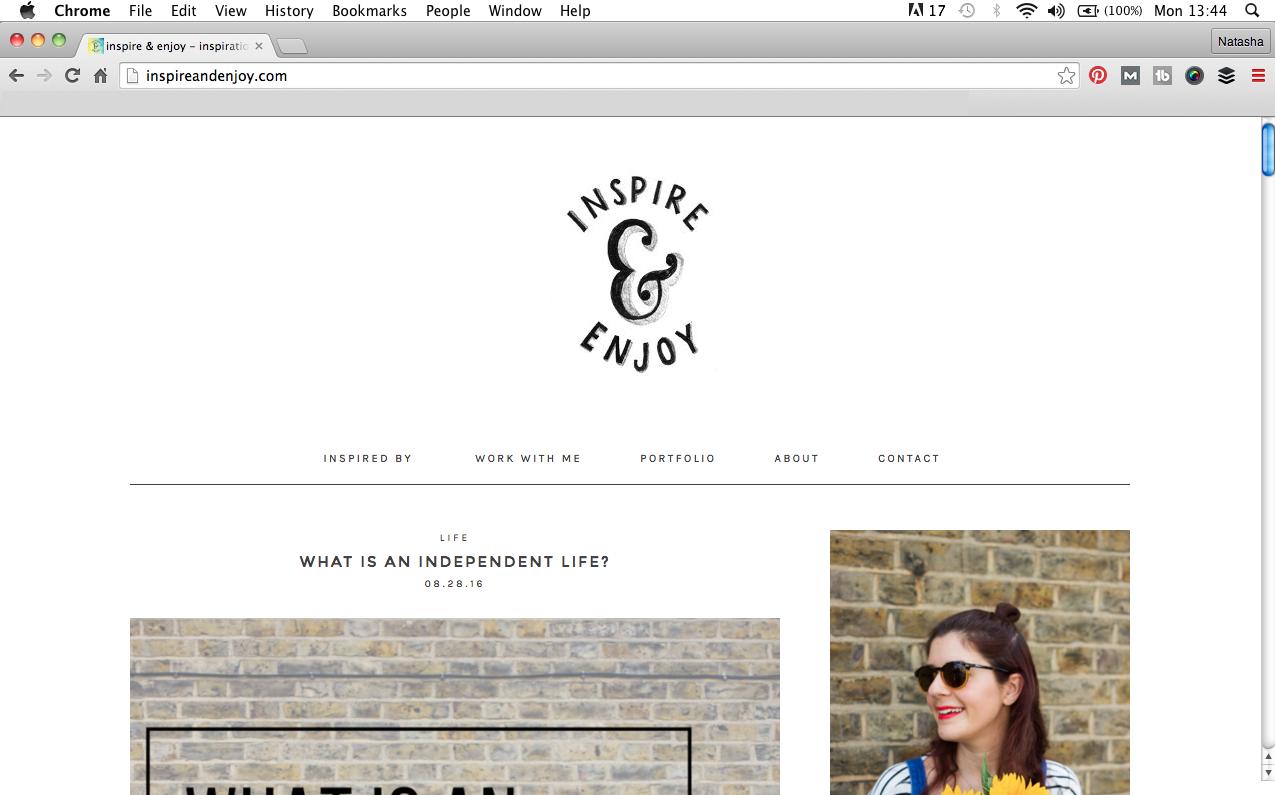 Inspire and Enjoy Logo design