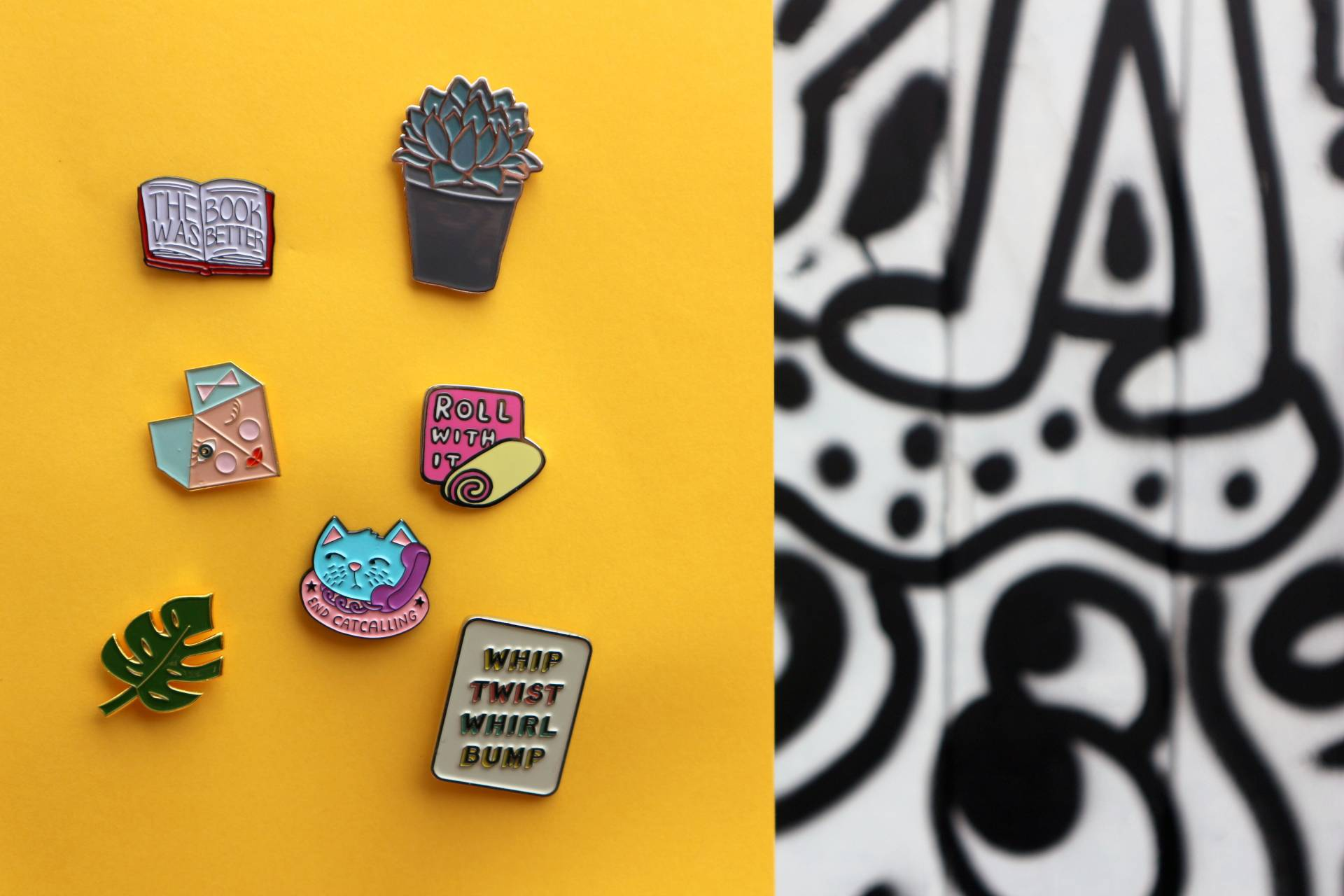 Graphic inspired AW16 Trends Pins