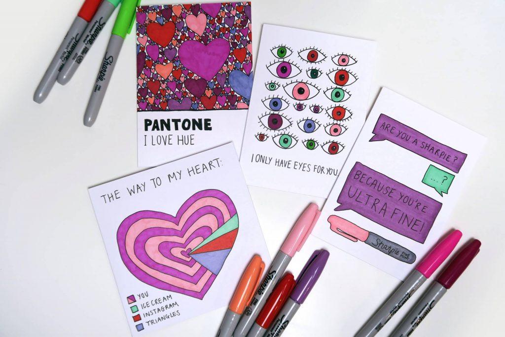 Last minute love: DIY Valentines/ Galentines cards