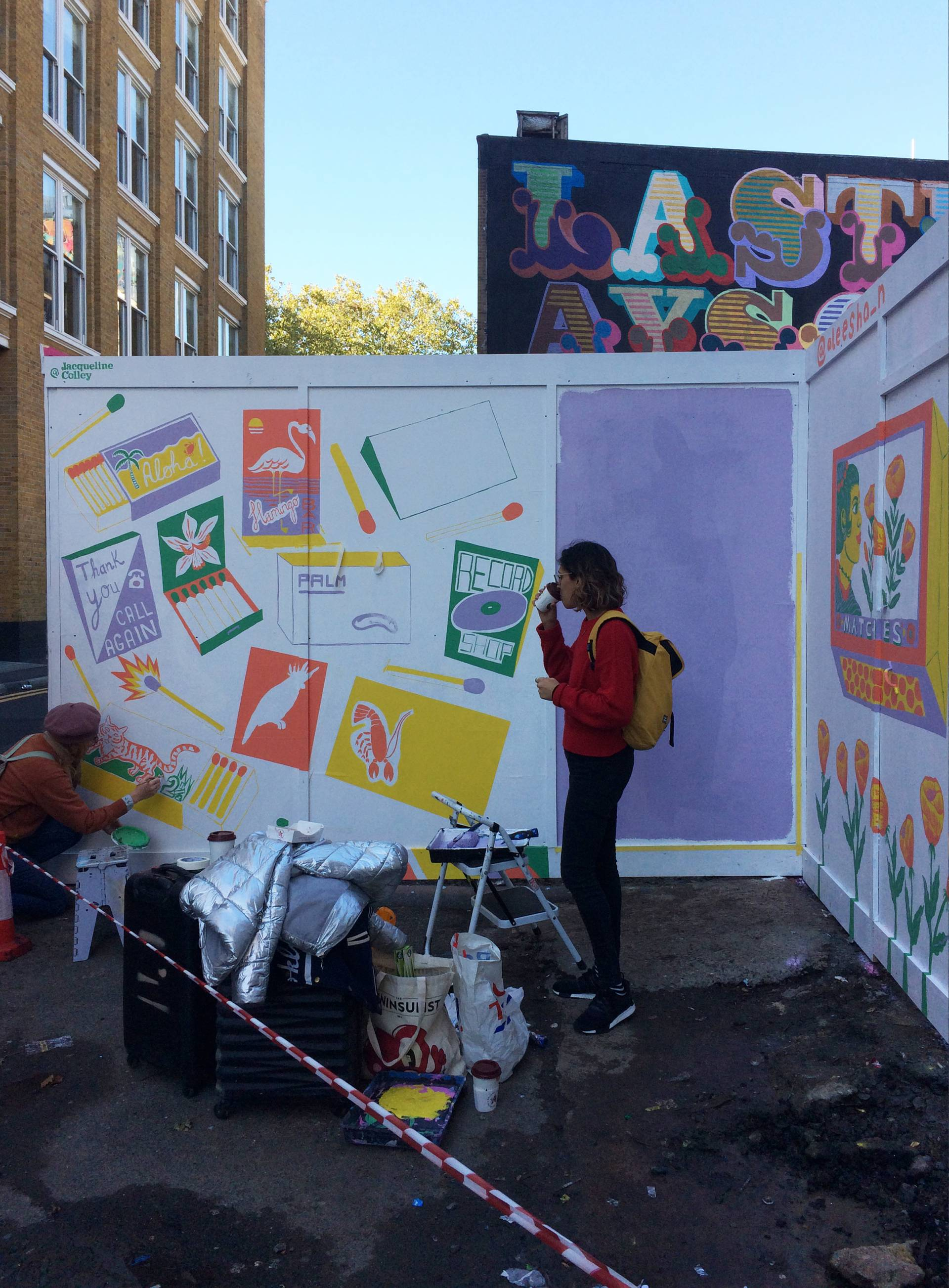 Painting a Mural in London