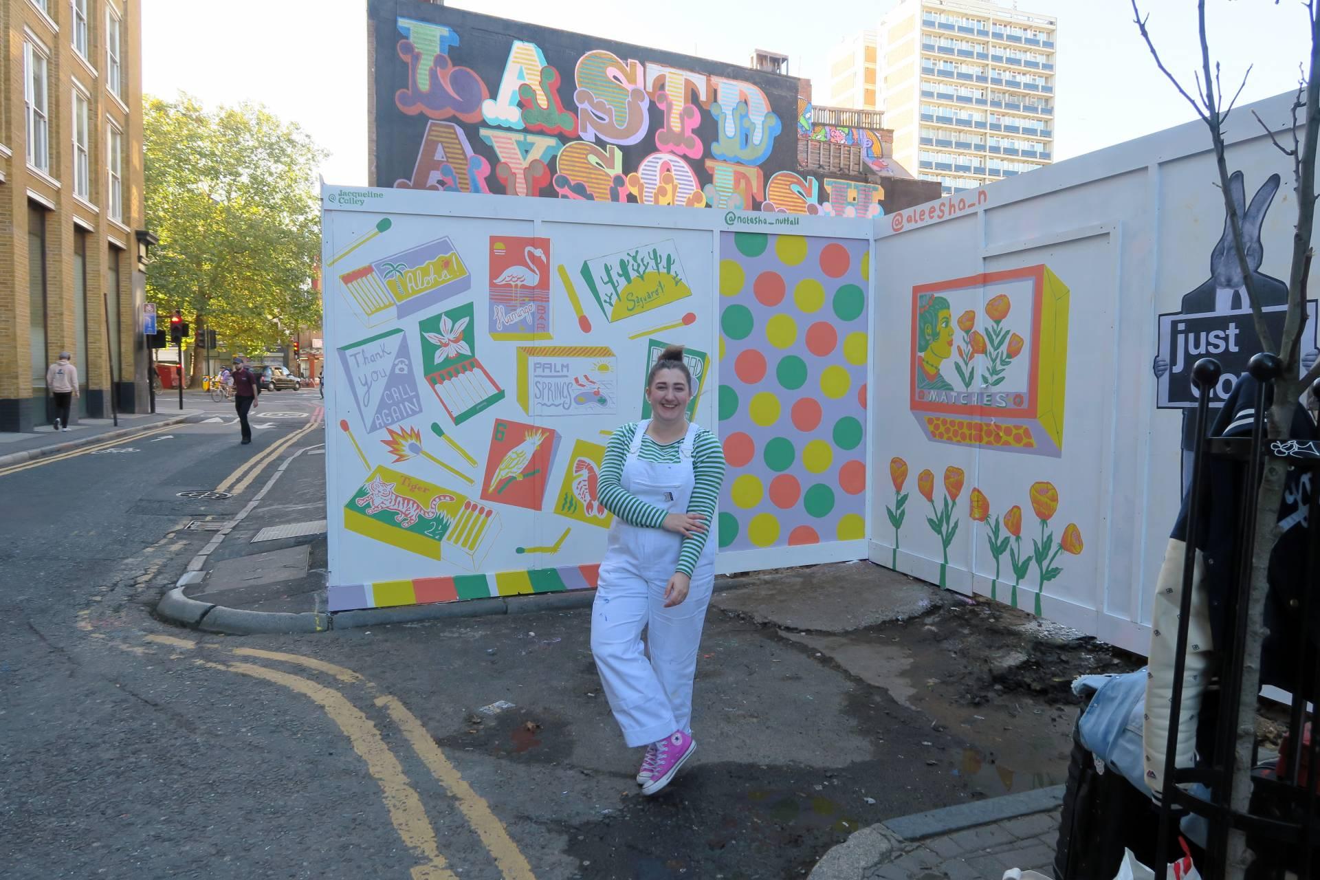 Natasha Nuttall Graphic Mural Painting