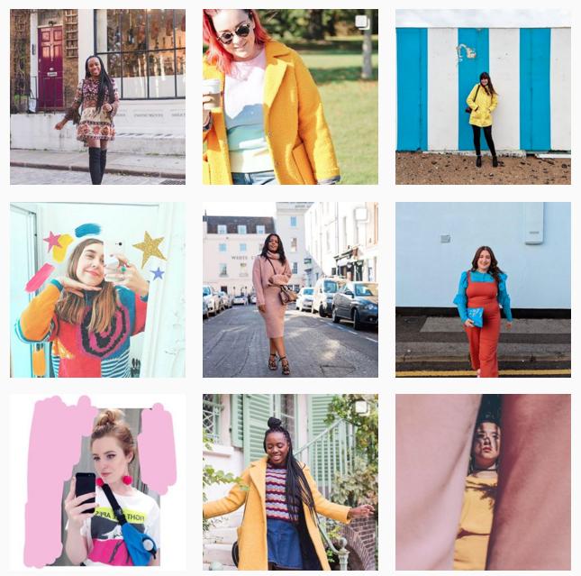 Colourful style hashtag