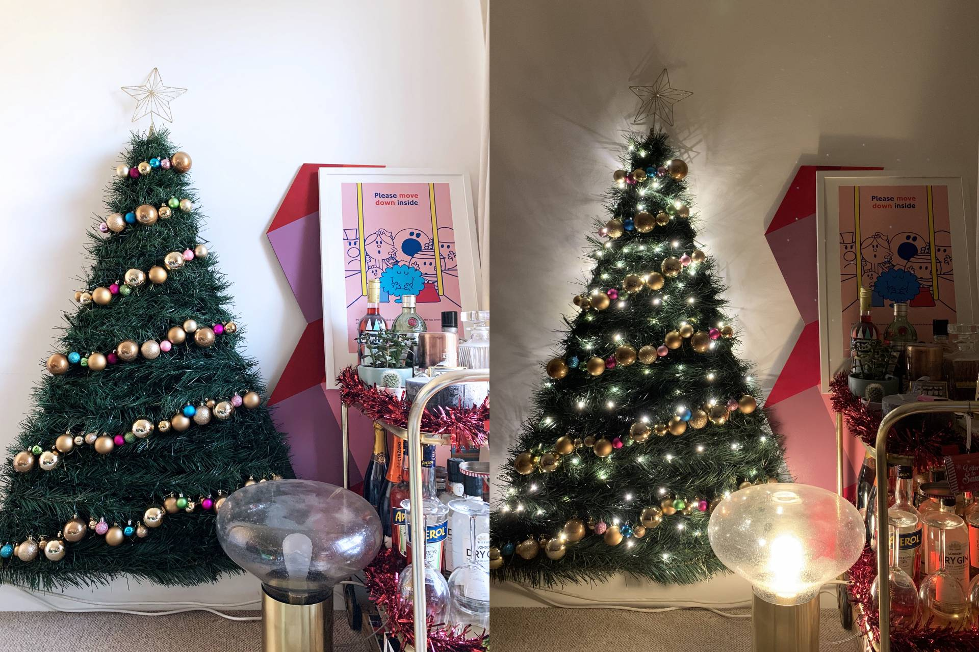 DIY Space Saving Christmas Tree